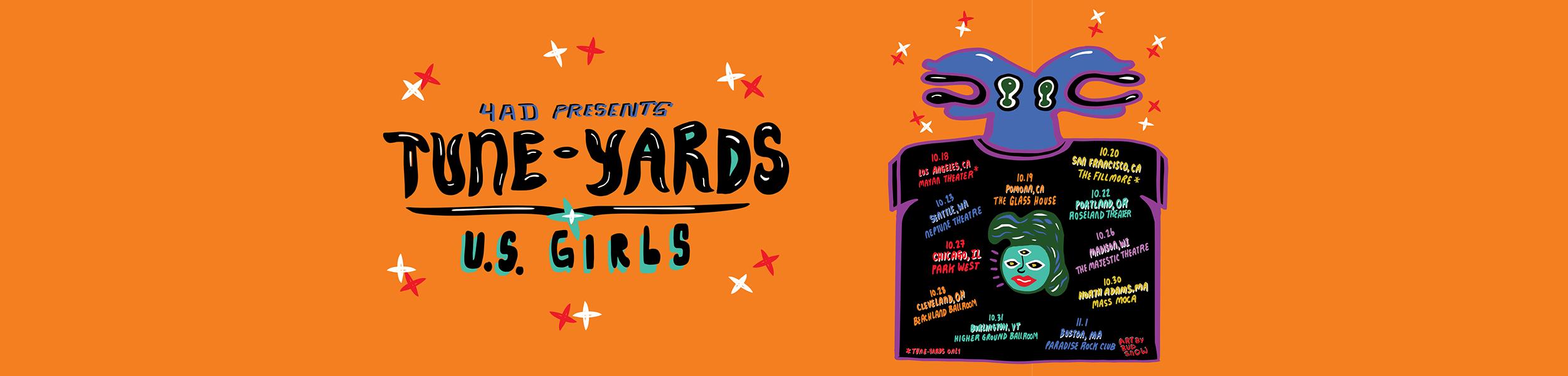 Tune-Yards - 4AD Presents Tune-Yards & U.S. Girls Tour